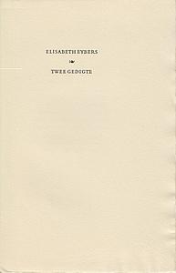 EYBERS, ELISABETH - Twee gedigte.