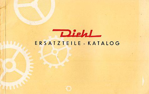 DIEHL UHREN - WATCHES - Diehl Ersatzteile Katalog - Catalogue - Spare parts. (Trade catalog).