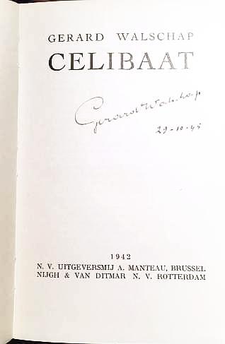 WALSCHAP, GERARD - Celibaat.
