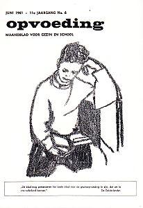 WERKMAN, FIE - Tekeningen van kinderen door Fie Werkman. Verschenen op de omslag van het pedagogisch-psychologisch tijdschrift Opvoeding. Maandblad voor gezin en school tevens gewijd aan de montessori-gedachte in het onderwijs.