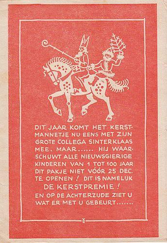 (WERELDBIBLIOTHEEK). VOSS, H.D. - Dit jaar komt het kerstmannetje nu eens met zijn grote collega Sinterklaas mee.