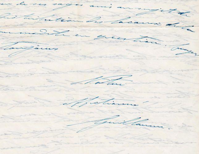 WILLEM III, KONING - Handgeschreven brief van Koning Willem III der Nederlanden (1817-1890) aan zijn hofarchitect Henri Camp.