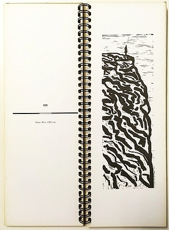 WAP, HANS - Berg. 6 lino's. 6 gedichten. (Een van 30 geïllustreerde exemplaren).