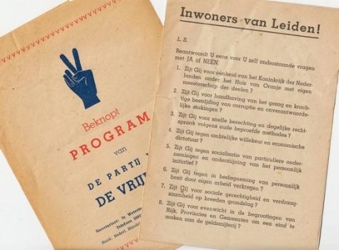 PARTIJ VAN DE VRIJHEID - Collectie van 3 publicaties.