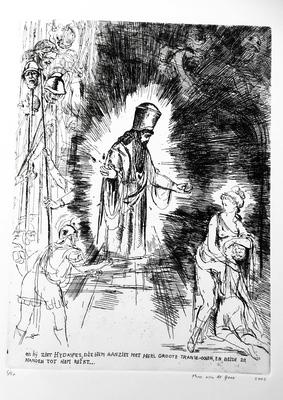(COUPERUS, LOUIS). THEO VAN DE GOOR - De Berg van Licht. Het etsenboek. (Acht originele etsen van Theo van de Goor. Met een voorwoord van Hans Kreuzen).