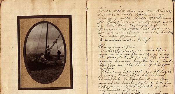 SCHILT, KEES, FRANS & JO SJONKES, FREEK VAN DEN BERG - Scheeps Journaal 18 Juni 1921. (Scheepsjournaal van de reis van het schip Van Galen door Zuid-Holland van 18-26 juni 1921).