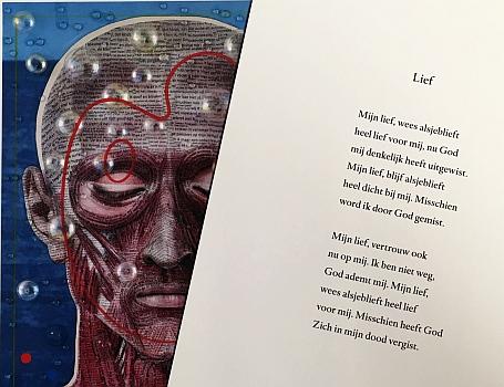 ZWAGERMAN, JOOST, EN HARALD VLUGT - Wakend over God. (Met een origineel kunstwerk/collage door Harald Vlugt).
