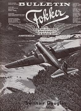 FOKKER N.V. - Bulletin Fokker. Vol. XI No. 1-2, 1935.
