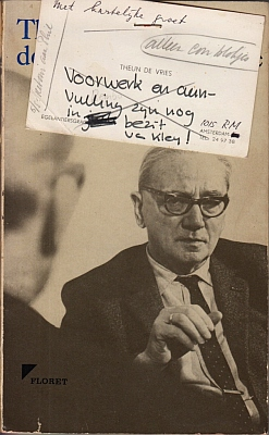 VRIES, THEUN DE - Hernomen konfrontatie met S. Vestdijk. (Met verbeteringen door de schrijver t.b.v. de herziene tweede druk).