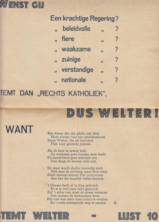 WELTER, CHARLES - Actie. Propagandablad van het Voorlopig Katholiek Comité van Actie. Nr. 14, Juni 1948.