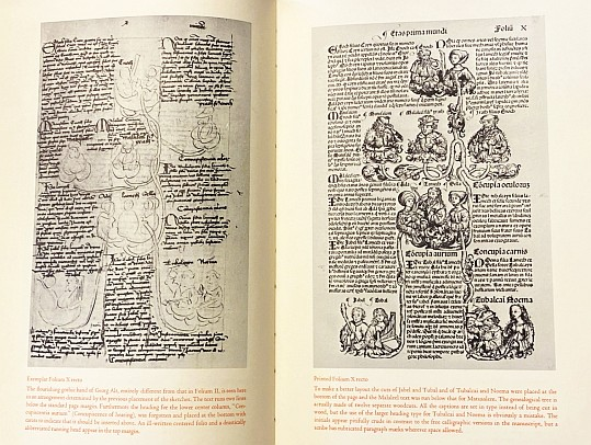 WILSON, ADRIAN - The Nuremberg Chronicle Designs. An account of the new discovery of the earliest known layouts for a printed book: the Exemplars for the Nuremberg Chronicle of 1493 with pages from the Latin exemplar reproduced for the first time.